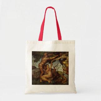 Fall from the Garden of Eden, Fresco, Michelangelo Tote Bag