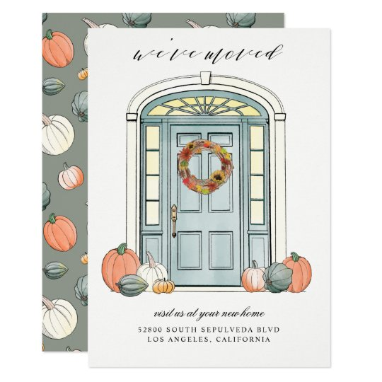 Fall Front Porch Colonial Door Moving Announcement