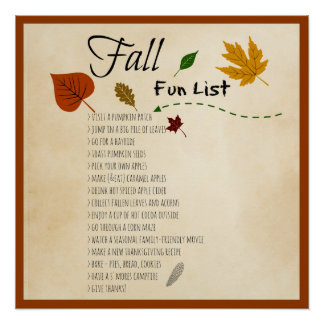 Fall Fun List Seasonal Autumn Harvest Activities