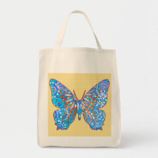 Fall Garden Butterfly Grocery Tote Bag