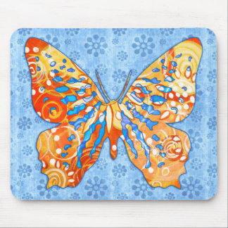 Fall Garden Butterfly Mouse Pads