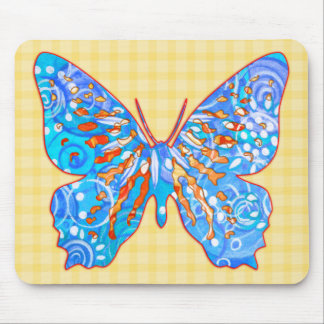 Fall Garden Butterfly Mouse Pad