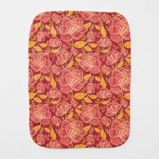 Fall garden vertical pattern background burp cloth