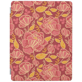 Fall garden vertical pattern background iPad cover