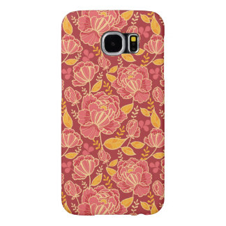 Fall garden vertical pattern background samsung galaxy s6 cases