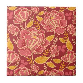 Fall garden vertical pattern background small square tile