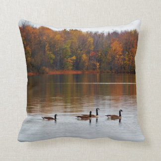 Fall Geese Reflections Cushion