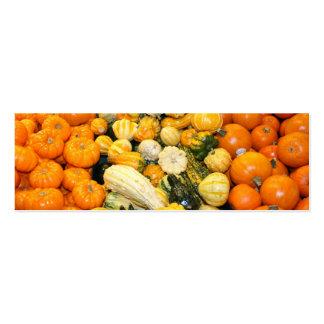 Fall Gourds & Mini Pumpkins Business Card Template
