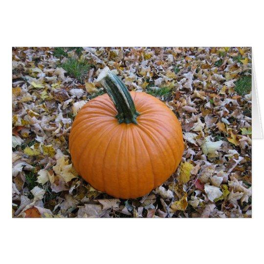 Fall Halloween pumpkin card