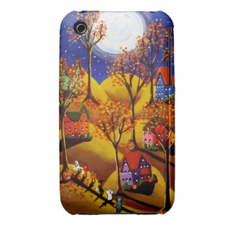 Fall Halloween Trick or Treat Kids Folk Art iPhone Case-Mate iPhone 3 Cases
