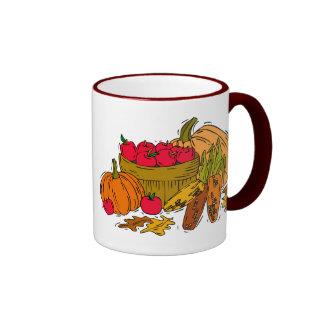 Fall Harvest Basket Ringer Mug