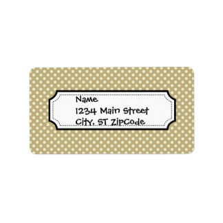Fall Harvest Brown and Linen Dot Pattern Address Label