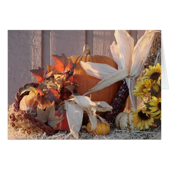 Fall Harvest Card