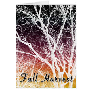 fall harvest : ghost tree card