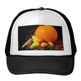 Fall Harvest Pumpkins and Maize Corn Trucker Hat