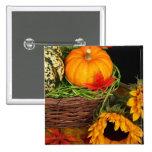 Fall Harvest Sunflowers Buttons