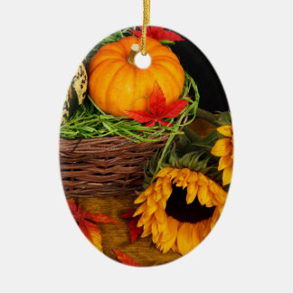 Fall Harvest Sunflowers Christmas Ornament