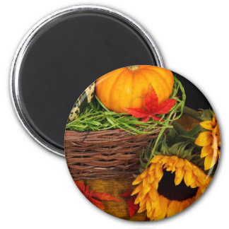 Fall Harvest Sunflowers Magnet