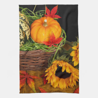 Fall Harvest Sunflowers Tea Towel