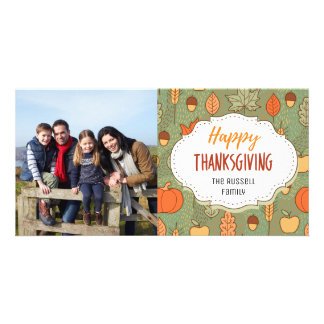 Fall Harvest Thanksgiving Picture Photo Card