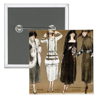 Fall Haute Couture 1920s Illustration Pin