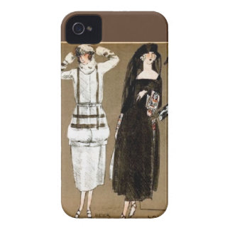 Fall Haute Couture 1920s Illustration Case-Mate iPhone 4 Cases