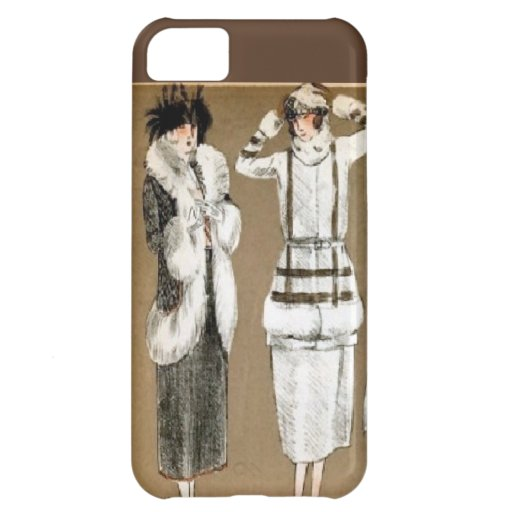Fall Haute Couture 1920s Illustration iPhone 5C Covers