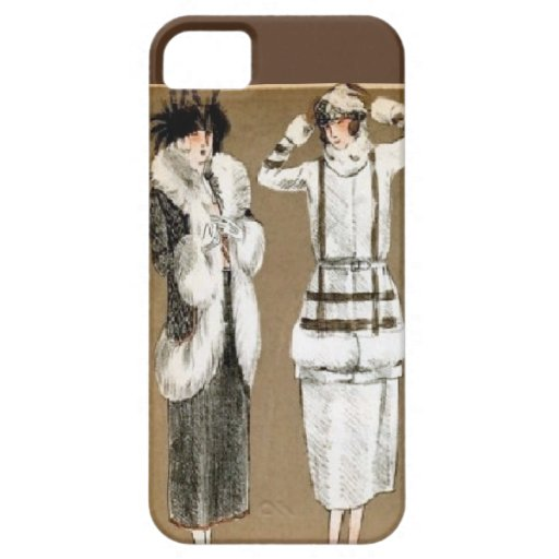 Fall Haute Couture 1920s Illustration iPhone 5 Cover