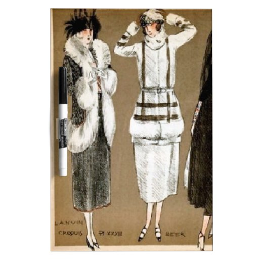Fall Haute Couture 1920s Illustration Dry-Erase Whiteboards