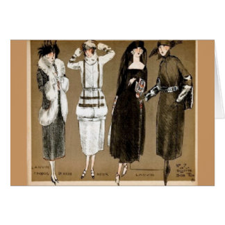 Fall Haute Couture 1920s illustration Greeting Card