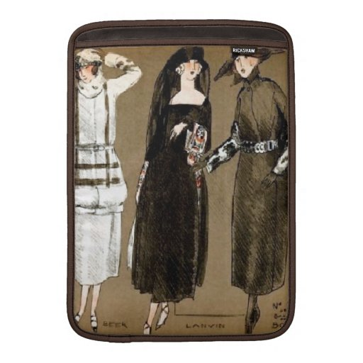 Fall Haute Couture 1920s Illustration MacBook Sleeves