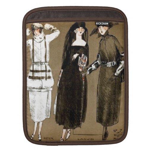 Fall Haute Couture 1920s Illustration iPad Sleeve