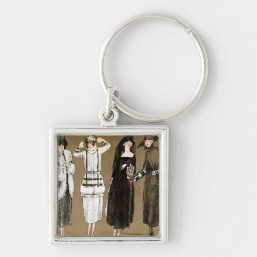 Fall Haute Couture 1920s Illustration Keychains