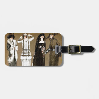 Fall Haute Couture 1920s Illustration Luggage Tag