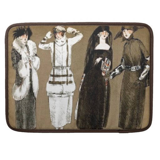 Fall Haute Couture 1920s Illustration Sleeve For MacBook Pro