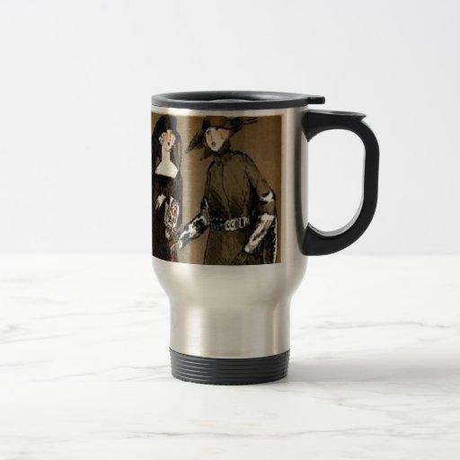 Fall Haute Couture 1920s Illustration Coffee Mug