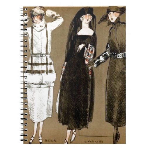 Fall Haute Couture 1920s Illustration Notebook
