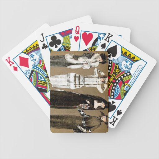 Fall Haute Couture 1920s Illustration Card Decks