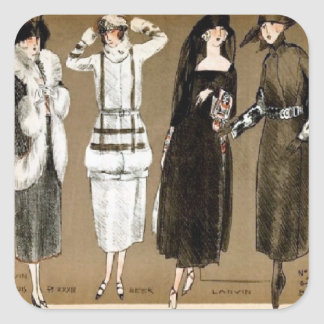 Fall Haute Couture 1920s Illustration Stickers