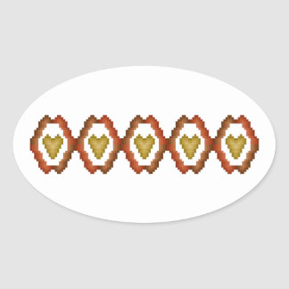 Fall Hearts Stickers