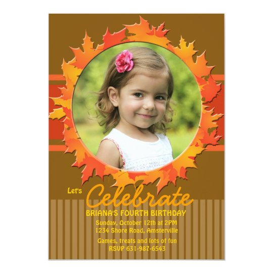 Fall Hoop Photo Invitation