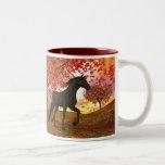 Fall Horse Two-Tone Mug