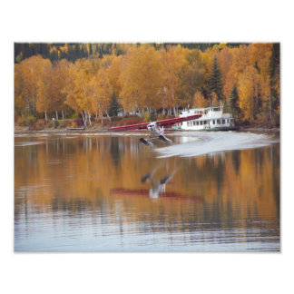 Fall in Alaska, Floatplane, Riverboat Photograph