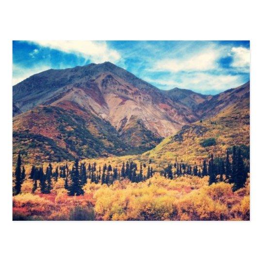 Fall in Alaska Postcard