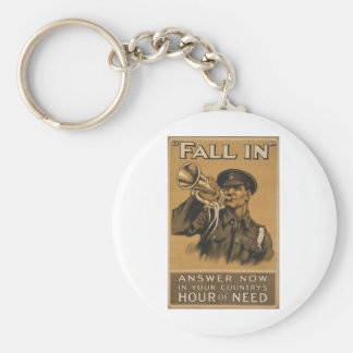 Fall In Answer Now Basic Round Button Key Ring