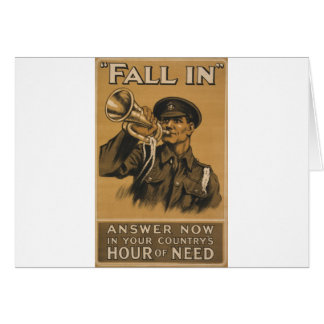 Fall In Answer Now Greeting Card