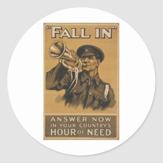 Fall In Answer Now Round Sticker