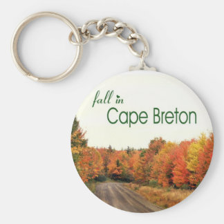 Fall in Cape Breton Basic Round Button Key Ring