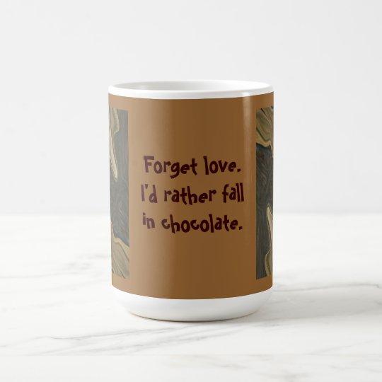 fall in chocolate humour coffee mug