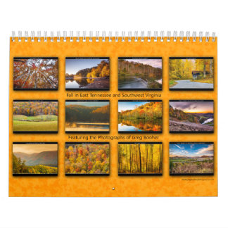 Fall in East Tennessee and Southwest Virginia Wall Calendars